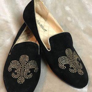 Olivia Miller Faux Black Suede Flats Size 6